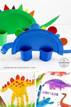 These dinosaur art project ideas are a fun at home preschool activity for 3 year olds. They're fun to do over the summer and are a hands on activity to get some screen free play! # home activities for 3 year olds 9 Preschool Dinosaur Art Projects 3 Year Old Preschool, Preschool Activities At Home, 3 Year Old Activities, Dinosaurs Preschool, Dinosaur Activities, Toddler Learning Activities, Preschool Crafts, Fun Activities, Preschool Printables