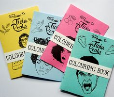 Twin Peaks Zine Colouring Book $9.38 by estellemorrisshop on Etsy
