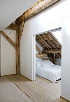 Check Out 39 Dreamy Attic Bedroom Design Ideas. An attic bedroom is usually associated with romance because it's great to get the necessary privacy. Attic Renovation, Attic Remodel, Attic Bedrooms, Home Bedroom, Bedroom Ideas, Budget Bedroom, Master Bedroom, Eaves Bedroom, Bedroom Nook