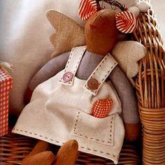 Mouse Angel Tilda.  How to sew a doll Tilda?  Patterns Tilda. 1 of 3