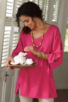 Gabby Gauze Top - Designer Summer Top, Tops, Clothing | Soft Surroundings
