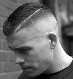High and Tight - High Skin Fade with Short Side Part # Braids hairlook rock # Braids hairlook men Mens Medium Length Hairstyles, Thin Hair Haircuts, Haircuts For Men, Short Haircut, Navy Haircut, Haircut Styles, 2018 Haircuts, Haircut Men, High And Tight Fade