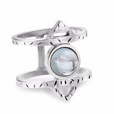 Athena Ring – Blue Topaz
