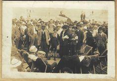 1930 s era Real Photo Postcard - Sangers Circus on the beach - Weymouth