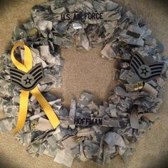 Love this idea. Need to make something out of my hubby old ones now that he is retired