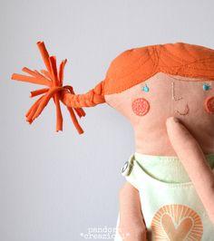 bambola in stoffa + Pippi Calzelunghe + pupazzo morbido + cotone di pandoracreazioni su Etsy