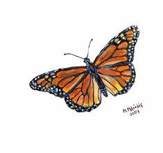 Female Monarch c2007 / ARTIST  Melanie Petridis / Monarch Butterfly art