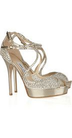 JIMMY CHOO  Fairview embellished mesh and leather sandals  $2,095