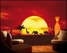 AFRICAN CARAVAN your deco shop african safari theme bedroom wall decorations
