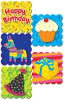 Poppin' Patterns® Happy Birthday Scratch 'n Sniff Stickers – Cotton Candy