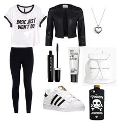 """""""Anna"""" by yasminekaddache ❤ liked on Polyvore featuring H&M, NIKE, adidas, Marc Jacobs, Pandora, Boohoo and Valfré"""