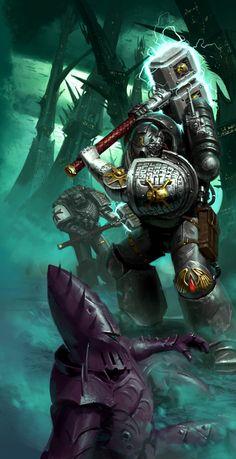 Deathwatch vs Dark Eldar by Jon Cave Eldar 40k, Dark Eldar, Warhammer 40k Art, Warhammer Fantasy, Salamanders Space Marines, Heavy Metal Art, Grey Knights, Avatar, Deathwatch