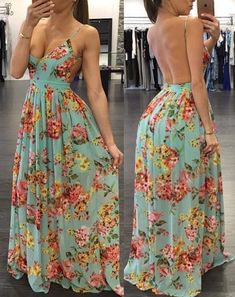 Pin For Trend Presented Backless Printed Prom Dresses For Stylish Girls - Prom Dresses Collection 2019 (Evening Party Dresses Prom Girl Dresses, Blue Evening Dresses, Sexy Dresses, Short Dresses, Fashion Dresses, Backless Maxi Dresses, Party Fashion, Look Fashion, Fashion 2018