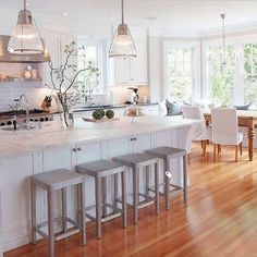 This Kitchen get a fresh face. Would you do a full white kitchen?  #kitchendesign .#kitchen #interiordesigns