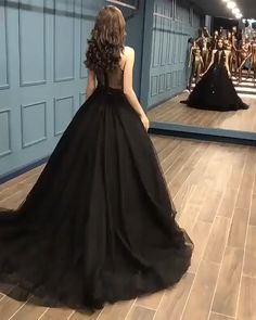 Sexy Ball Gown High Neck Black Tulle V Neck Sequins Party Dresses, Prom Dresses SFB, This dress could be custom made, there are no extra cost to do custom size and color. Cheap Black Prom Dresses, Pretty Prom Dresses, Black Quinceanera Dresses, Sequin Evening Gowns, Ball Gowns Evening, Cheap Evening Gowns, Beautiful Evening Gowns, Beautiful Black Dresses, Sexy Evening Dress