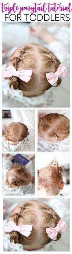 Sensational Baby Bun Pigtail Tutorial Paes Cabelo Infantil E Penteados Infantis Hairstyles For Women Draintrainus