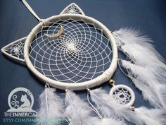 Here are the LAST Luna & Artemis Dream Catchers for now,   Now both Available on Etsy: www.etsy.com/shop/theinnercat  . #TheInnerCat #dreamcatcher #dreamcatchers #etsy #decor #wallart #walldecor #home #homedecor #white #gold #purple #Luna #Artemis #bedroom #moon #crescent #Sailormoon #cat #anime #gift #catsofinstagram #giftideas #madewithlove #cool #sailormooncrystal #feathers #cats #meow #Photooftheday