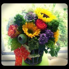 Summer floral basket  Roberts Flowers of Hanover,  Hanover, NH