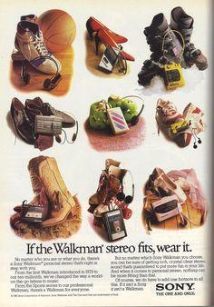 1988 Sony Walkman ad