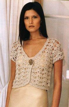 Bolero a crochet Crochet Bolero Pattern, Gilet Crochet, Crochet Shirt, Crochet Jacket, Crochet Cardigan, Crochet Top, Crochet Patterns, Crochet Hats, Free Crochet