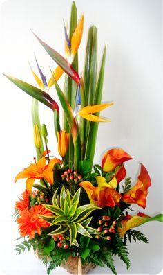Tropical floral art
