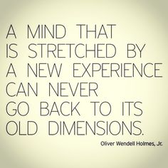 Experience stretches the mind