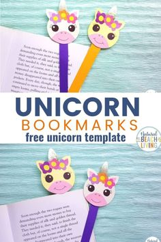 Unicorn Crafts with Free Printable Unicorn Template, These Unicorn Bookmarks with Free Unicorn Templates are so simple and fun to make! Perfect for a Unicorn Activity or Unicorn party craft. Add these to your Fun Unicorn Activities for your favorite Unico Kindergarten Crafts, Preschool Crafts, Glue Crafts, Craft Stick Crafts, Craft Activities For Kids, Crafts For Kids, Nature Activities, Kids Diy, Learning Activities