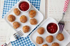 Meatloaf Meatballs from Weelicious. Fun way to make meatloaf for the kids!