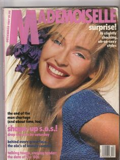 December 1987 cover with Estelle Lefebure photographed by the late Richard Avedon