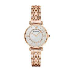 7b86e4d0fa Damen-Armbanduhr-Emporio-Armani-AR1909 Armani Uhren, Link Armbänder, Emporio