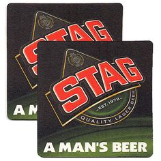 Beer Coasters STAG Exclusive From Trinidad & Tobago Collectible Set of Two (2)