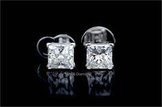princess diamond earrings Princess Cut Diamond Earrings, Princess Cut Diamonds, Diamond Cuts, Engagement Rings, Jewelry, Enagement Rings, Wedding Rings, Jewlery, Jewerly