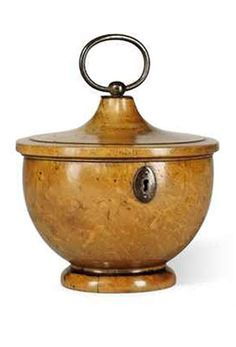 ♔ A George III sycamore urn shaped tea caddy ~ Early 19th century