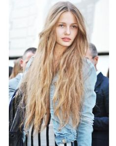 Natural - my hair will fall like that once it is that long! Grow hair! Grow!