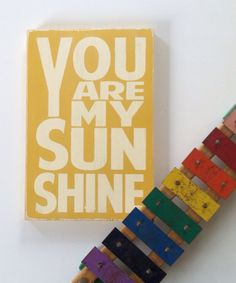 You Are My Sunshine Sign Typography Word Art by barnowlprimitives, $35.00
