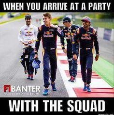 Red Bull F1, Red Bull Racing, F1 Racing, Ricciardo F1, Daniel Ricciardo, Car Jokes, Car Humor, Formula 1 Car, F1 Drivers