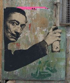 Salvador Dali Paste Up from the Pure Evil Gallery