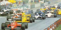 F1 start line crash Austria 1987 P1