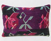 16x24 kilim pillow lumbar colourful cushion cover floor pillow cover kilim rug pillow couch cushion couch pillow bench pillow case old 27108