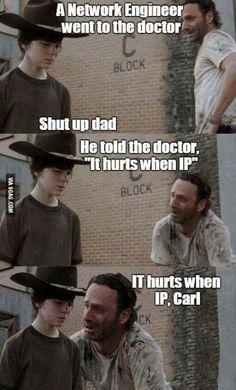 It hurts when IP Carl!