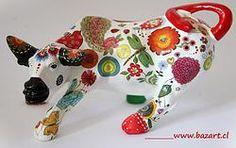 Toro 28 Decoupage, Cow Parade, Zentangle, Diy Home Decor, Dinosaur Stuffed Animal, Elephant, Sculpture, Cows, Metal