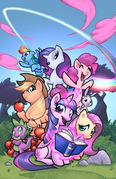 My little Pony cover by zaratus on DeviantArt My Little Pony Poster, My Little Pony Comic, Little Pony Party, My Little Pony Pictures, My Little Pony Equestria, Equestria Girls, Los Paw Patrol, My Little Pony Wallpaper, My Little Pony Twilight