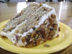 hummingbird cake. recipe first ran in 1978 in southern living magazine and is still their most requested recipe! it's a 3 layer cinnamon cake with bananas, pineapple and pecans then topped with cream cheese frosting. heavenly!