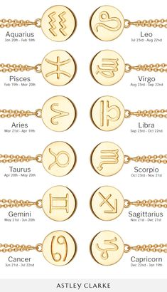 Shop star sign-inspired necklaces in yellow gold, rose gold and silver. Each pendant has a disc featuring a modern zodiac symbol and can be engraved with initials on the reverse side. All orders have FREE global delivery and FREE UK returns. Zodiac Sign Necklace, Zodiac Jewelry, Leo And Aquarius, Taurus And Scorpio, Astley Clarke, Medieval Jewelry, Meaningful Tattoos, Cute Jewelry, Personalized Jewelry