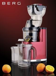 BERG J PRO Slow / Masticating Whole Juicer SALE PRICE - £149.51 RRP £299.00   Slow masticating dual stage auger for cold pressing WHOLE fruits and vegetables. Rotating at just 33 RPM makes it one of the slowest rotation juicers currently available, enabli