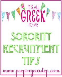 Sorority Recruitment Tips