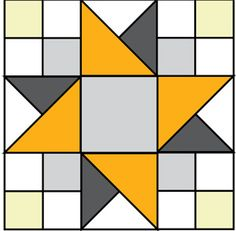 SUNSHINE QUILT BLOCK Free quilt block pattern Designed by DOLORES SMITH and SARAH MAXWELL Free block pattern at the link; quilt made with this block patterned in the June/July 2015 issue of McCall's Quick Quilts