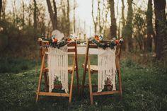 Bohemian Wedding Decor Macrame Chair Backs / Ceremony Chairs