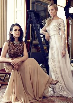 See the full photo shoot from inside the August issue, starring the women of Downton Abbey