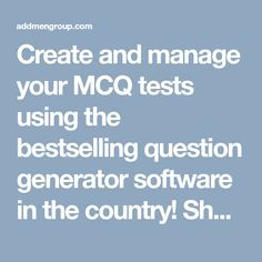 multiple choice test maker software which creates mcq question paper mcq software pinterest question paper